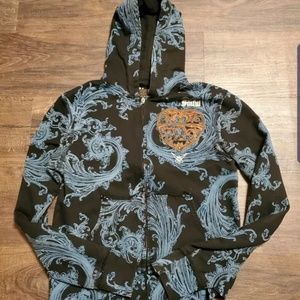 Sinful by Affliction Wings Front Zip Up Hoodie